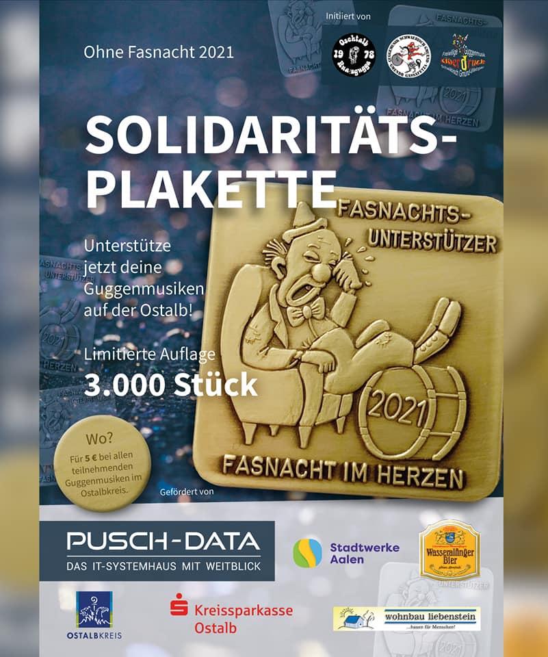 Fasnachtsunterstützer-Solidaritätsplakette